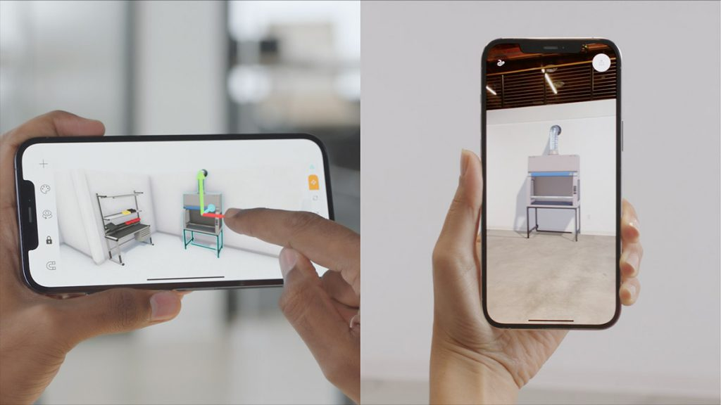 New iPhone with LiDAR sensor functions can be used to create a next-gen AR app